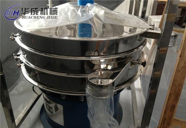 江西赣州顾客现场图片氧化锆粉振动筛