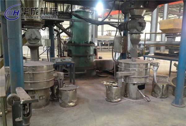 長葛的廠家采購的鐵粉振動篩案例